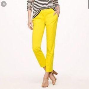 JCrew Cafe Capri bright yellow 00